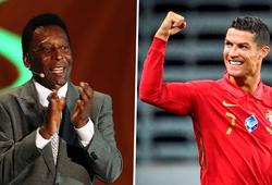 Pele phản ứng đặc biệt với kỷ lục ghi 100 bàn của Ronaldo