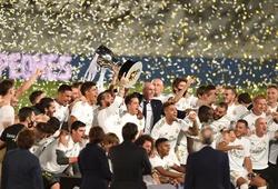 Real Madrid lập kỷ lục về số chức vô địch trong 5 giải châu Âu