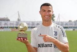Ronaldo ăn mừng giải thưởng ghi bàn đặc biệt ở cấp độ quốc tế