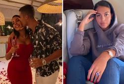 Ronaldo lãng mạn khiêu vũ với bạn gái trên cánh hoa hồng