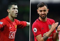 Fernandes bắt kịp thành tích của Ronaldo ở Ngoại hạng Anh
