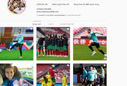 Ronaldo là vua tương tác trên Instagram, bỏ xa Bruno Fernandes