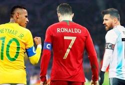 Ronaldo, Messi hay Neymar có tỷ lệ ghi bàn ở đội tuyển tốt hơn?