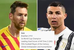 Pele tự tôn vinh dù bị Ronaldo và Messi thay nhau phá kỷ lục