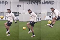 Ronaldo gây mê hoặc trên sân tập bằng đôi chân điệu nghệ