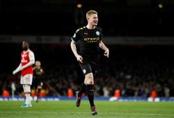 Đội hình dự kiến Man City vs Arsenal: De Bruyne so tài Ozil