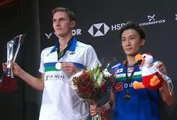 Kết quả cầu lông Đan Mạch mở rộng 24/10: Axelsen vô địch do lối chơi của Momota phản chủ