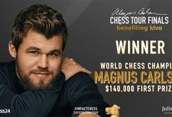 Kết quả chung kết giải cờ vua Magnus Carlsen Tour Finals ngày 20/8: Vua cờ vô địch