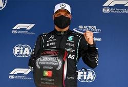 Bottas thắng vòng loại  Grand Prix Bồ Đào Nha, ngăn cản đồng đội Hamilton chiếm pole F1 thứ 100