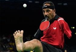 Bóng bàn Paralympic: Tuyển thủ Ai Cập không tay truyền cảm hứng mạnh mẽ