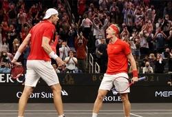 Kết quả tennis Laver Cup mới nhất: Thế Giới chưa nát nhờ đánh đôi