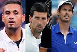 Nick Kyrgios mượn rượu cà khịa: Andy Murray giỏi hơn Novak Djokovic