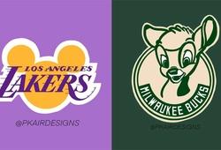 Sẽ ra sao nếu logo các đội bóng NBA chuyển thành style… Disney?