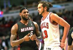 Hài hước phản ứng của LeBron James sau khi được kình địch rủ về Chicago Bulls