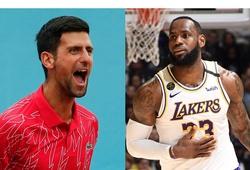 Bị Novak Djokovic cà khịa đấu 1-1, LeBron James đáp trả ra sao?