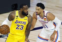 """Los Angeles Lakers """"ném gạch xây nhà"""", thua đậm Oklahoma City Thunder"""