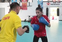 Chùm ảnh NVĐ Boxing Nguyễn Thị Tâm cùng đồng đội chuẩn bị cho Cúp CLB Toàn quốc