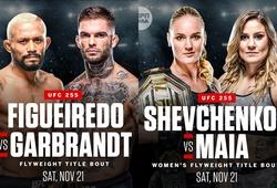 Hai trận tranh đai chính thức được công bố cho UFC 255