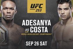 Lịch thi đấu UFC 253: Israel Adesany vs. Paulo Costa