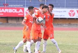 Thi đấu thăng hoa, Hà Đức Chinh ghi cú đúp bàn thắng vào lưới Thanh Hoá