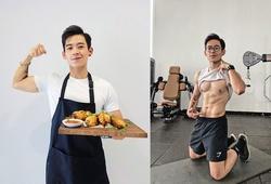 Soái ca 9X hội Yêu Bếp gây chú ý với những bài tập bụng 6 múi hiệu quả