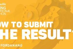 Cách gửi kết quả chạy ảo Manulife Danang International Marathon 2020