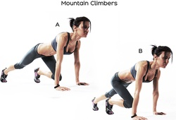"""5 kiểu tập """"leo núi"""" Mountain Climbers giúp chạy khỏe và nhanh hơn"""