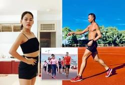 """Chị em """"Đệ nhất đi bộ Việt Nam"""" tập luyện giữ dáng mùa COVID-19"""