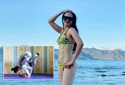 """""""Cựu nữ hoàng chạy 800m"""" Khánh Đoan khoe vóc dáng đẹp kinh ngạc sau nửa năm tập yoga"""