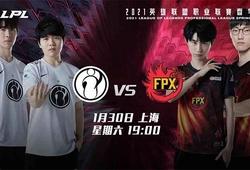 Trực tiếp LPL Mùa Xuân 2021 hôm nay 30/1: IG vs FPX