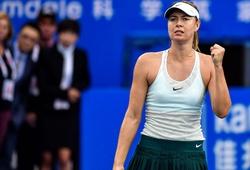 Dù bị dẫn trước, Sharapova vẫn may mắn đi tiếp do đối thủ bỏ cuộc