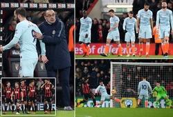 Higuain ra mắt tệ hại, tội đồ Luiz và những nguyên nhân khiến Chelsea thua thảm Bournemouth