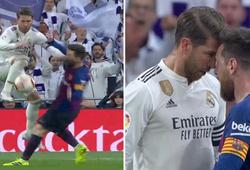 Cú thúc khuỷu tay của Ramos với Messi ở trận Siêu kinh điển có đáng nhận thẻ đỏ hay không?