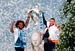 """Marcelo và Sergio Ramos """"va chạm"""" trên sân tập của Real Madrid"""