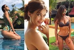 """Nhan sắc tuyệt trần của Hoa hậu từng khiến cựu tiền vệ ĐT Pháp """"say như điếu đổ"""""""