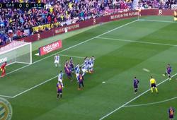 Messi sút phạt độc đáo kiểu Panenka giúp Barca thắng derby Catalan
