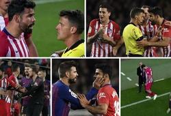 Diego Costa nói gì với trọng tài để nhận thẻ đỏ trực tiếp trong trận Barca vs Atletico Madrid?