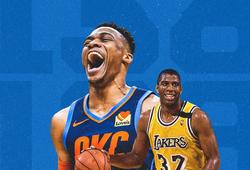 Sánh ngang huyền thoại Magic Johnson, Russell Westbrook khép lại mùa Regular Season lịch sử