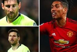 Hé lộ phản ứng bất ngờ của Messi với Smalling sau pha va chạm kinh hoàng