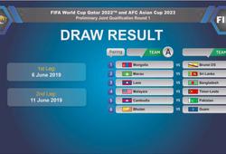 Bốc thăm vòng sơ loại World Cup 2022: Malaysia thở phào nhẹ nhõm