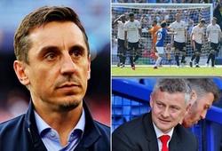 """Huyền thoại MU giận """"sôi máu"""" khi nhìn các đàn em """"giả vờ chạy"""" ở trận thua Everton"""