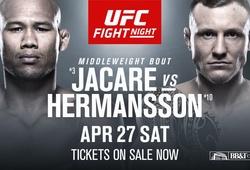 TRỰC TIẾP UFC Fight Night: Ronaldo Souza vs Jack Hermansson