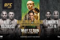 TRỰC TIẾP UFC UFC 237: Rose Namajunas vs. Jessica Andrade