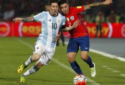 Kết quả Argentina vs Chile (2-1): 2 thẻ đỏ, 7 thẻ vàng và 3 bàn thắng