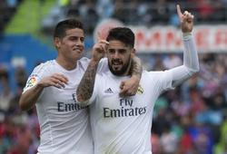 Chuyển nhượng Real Madrid 18/7: Tương lai của James và Isco có diễn biến bất ngờ