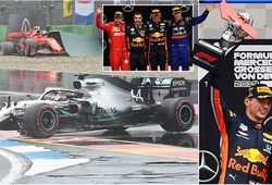 Grand Prix Đức phát rồ với cơn mưa ngang qua: Cuộc đua tệ nhất của Hamilton khiến Mercedes trắng tay!