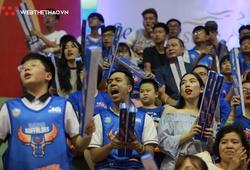 Fan Hanoi Buffaloes vỡ òa sau chiến thắng kịch tính trước Saigon Heat