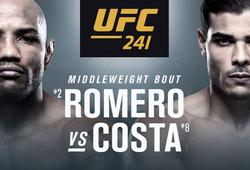 Nhận định Yoel Romero vs Paulo Costa tại UFC 241 on ESPN + (09h00, 18/8)