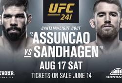 Nhận định Cory Sandhagen vs Raphael Assuncao tại UFC 241 (09h00, 18/8 )