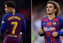 Vì sao Griezmann không thể mặc áo số 7 của Coutinho đã rời Barca?